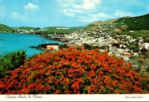 U S Virgin Islands St Thomas Charlotte Amalie View Of Town and Harbor