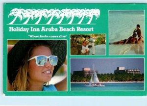 HOLIDAY INN ARUBA BEACH RESORT ~ Advertising 1991 Palm Beach    4x6 Postcard