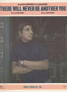 There Will Never Be Another You Chris Montez 1970s Sheet Music