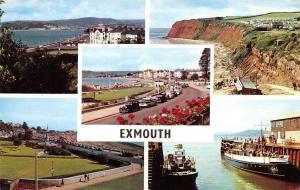 Vintage Exmouth Devon Multi View Postcard 47F