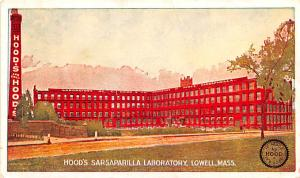 Advertising Post Card Hood's Sarsaparilla Laboratory Lowell, Mass, USA U...