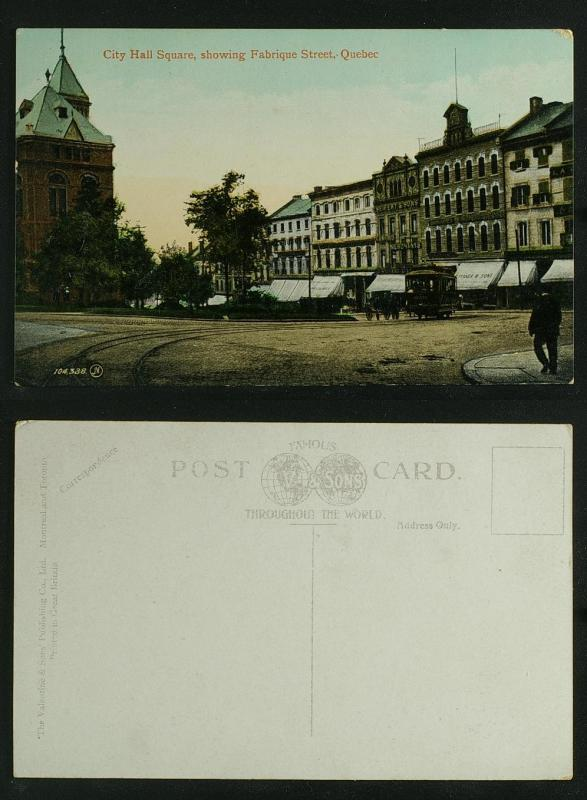 Quebec City Hall Square showing Fabrique Street c 1910