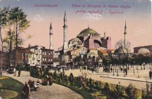 Turkey Constantinople Place et Mosquee de Sainte Sophie