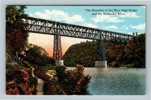 High Bridge KY, Looking Up from the River, Vintage Kentucky c1920 Postcard