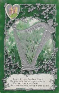 SAINT-PATRICK´S DAY; Poem, Silver Harp And Shamrocks, 1900-1910's