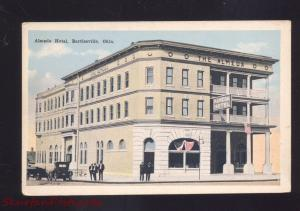 BARTLESVILLE OKLAHOMA ALMEDA HOTEL ANTIQUE VINTAGE ADVERTISING POSTCARD