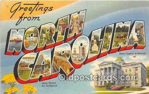 Linen North Carolina, USA Postcard Post Cards North Carolina, USA Linen