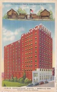 Tennessee Nashville James Robertson Hotel 1942 Curteich