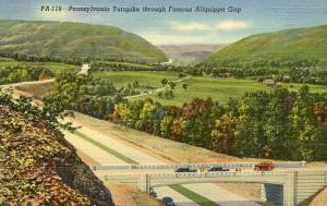 PA -  Pennsylvania Turnpike, Through Famous Aliquippa Gap