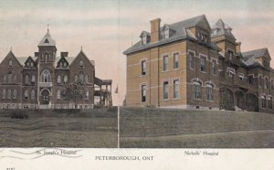 PETERBOROUGH, Ontario, Canada, 1900-10s; St. Joseph's Hospital & Nicholls' Ho...