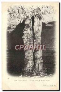 Old Postcard Arcy On Cury Caves Pillar Double