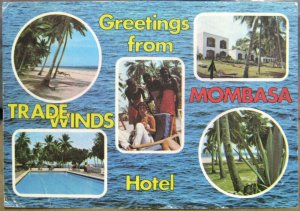 Kenya Mombasa Greetings from Trade Winds Hotel Diani Beach - posted