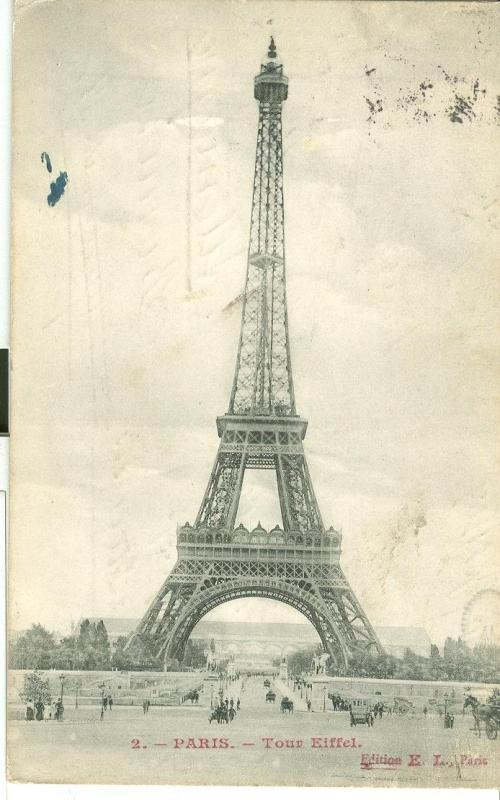 France, Paris, Tour Eiffel, 1907 used Postcard CPA
