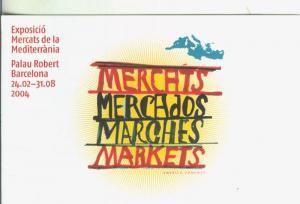 Postal 5596 : Propaganda exposicion mercats de la mediterranea, palau robert,...