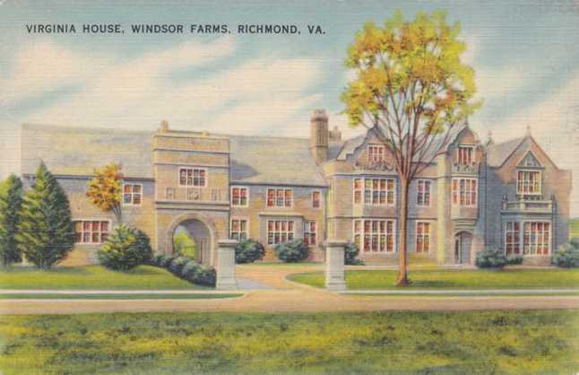 Virginia House At Windsor Farms Richmond Virginia Pm 1943