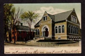 MA City Public Library AMESBURY MASS MASSACHUSETTS 1907
