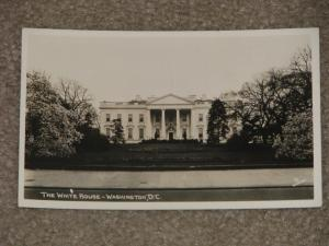 RPPC,  The White House-Washington, D.C. (has some writing on back), by Rideout