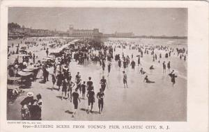 New Jersey Atlantic City Bathing Scene From Young's Pier