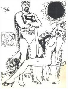 Adult Comic  Super Hero , Nude Woman
