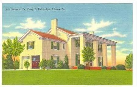 Home Of Dr. Harry E. Talmadge, Athens, Georgia, 30-40s