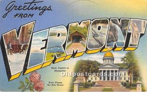 Greetings from Vermont, VT, USA Large Letter Black paper on back paper glued ...