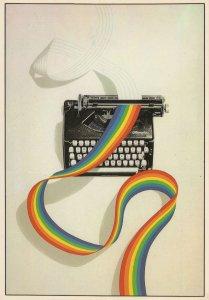 LGBT Gay Lesbian Pride Typewriter Postcard