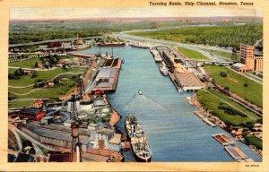 Texas Houston Ship Channel Turning Basin 1940 Curteich