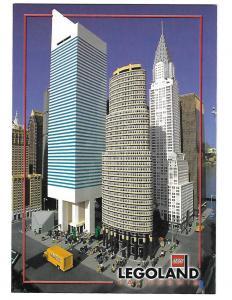 Miniland of New York City in Legos Legoland California 4 by 6 Card
