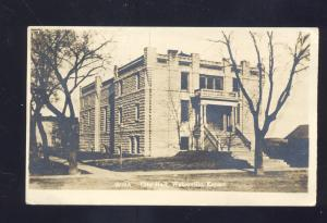 RPPC WATERVILLE KANSAS CITY HALL M.L. ZERCHER VINTAGE REAL PHOTO POSTCARD 1912