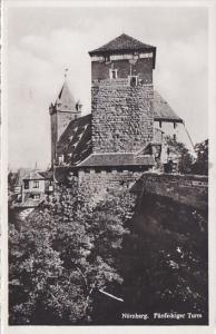 Germany Nuernberg Fuenfeckigertor Turm Real Photo