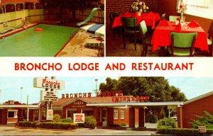 Texas Amarillo Broncho Lodge and Restaurant 1972