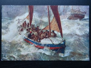 Royal National LifeBoat Institution RED CROSS OF SEA c1911 Postcard Raphael Tuck