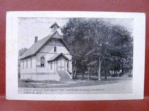 Postcard WI Oconto First Church for Christian Science Worship Pre 1907