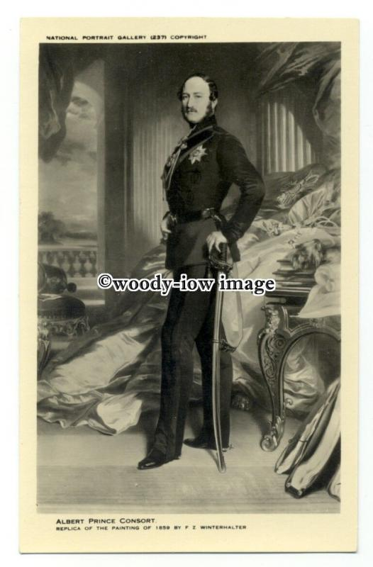 r2184 - The Prince Consort, Prince Albert, copy of B.Matthews Painting- postcard