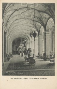 PALM BEACH , Florida, 1910s ; The Breakers, Lobby