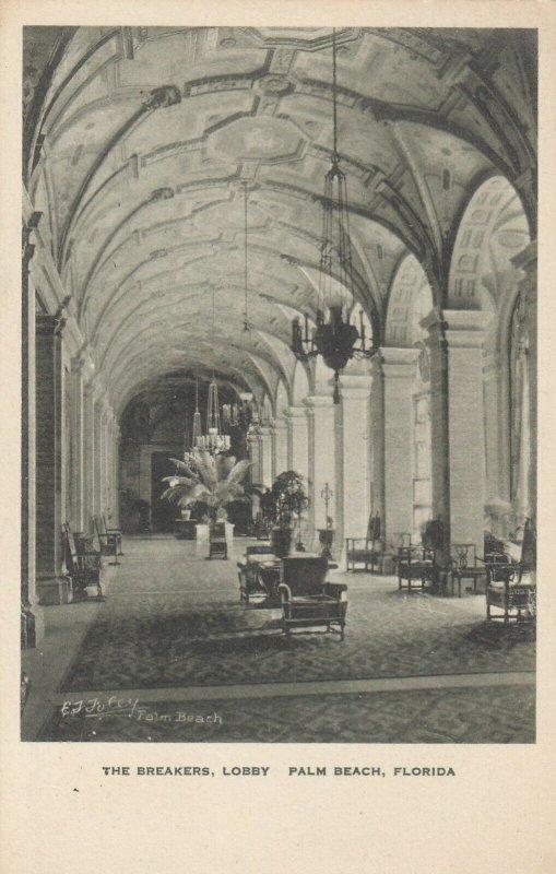 PALM BEACH , Florida, 1910s ; The Breakers, Lobby