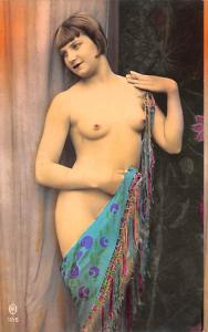 French Tinted Nude Postcard Unused very light yellowing on back from age