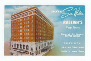 Hotel Sir Walter, Raleigh, North Carolina, 1940-1960s
