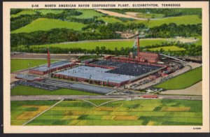 Tennessee ELIZABETHTON View of North American Rayon Corporation Plant - LINEN