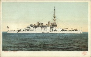 US Navy Battleship USS Oregon c1905 Detroit Publishing Postcard