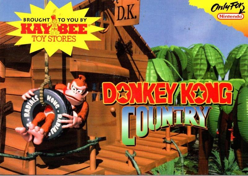 Advertising Donkey Kong Country Kay Bee Toy Stores