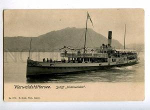 190437 SWITZERLAND Lucerne ship UNTERWALDEN Vintage postcard