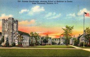 North Carolina Durham Science Quadrangle Showing School Of Medicine In Center...