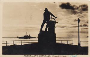Fisherman's Memorial Gloucester Massachusetts 1948 Real Photo