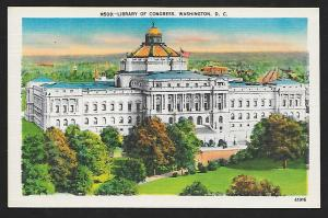 Library of Congress Washington DC unused c1940's