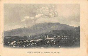 Martinique Morne Rouge eruption du 26 Aout postcard