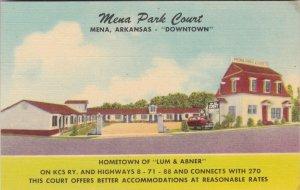 Arkansas Mena The Mena Park Court Home Of Lum & Abner sk2867