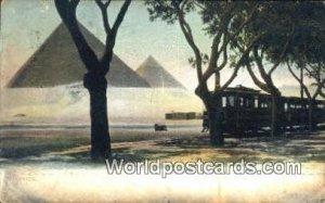 Pyramids Eqypt Postal Used Unknown