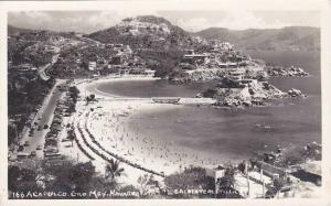 Mexico Acapulco Beach Scene Real Photo