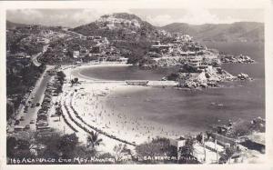 Mexico Acapulco Beach Scene Real Photo